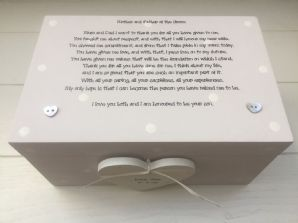 Shabby Personalised Chic Mother & Father Of Groom EXTRA LARGE Gift Memory Box